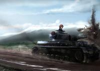 """Постер """"Girls und Panzer"""" (арт. 205)"""