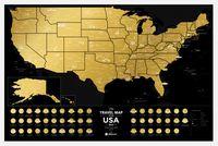 "Скретч-карта ""USA Black"" (600х400 мм)"