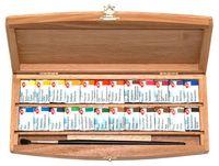 """Акварель художественная """"Белые ночи"""" (24 цвета; деревянная коробка)"""