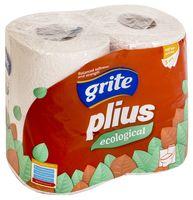 """Туалетная бумага """"Plius Ecological"""" (4 рулона)"""