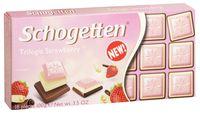 """Шоколад молочный """"Schogetten. С белым шоколадом и клубникой"""" (100 г)"""