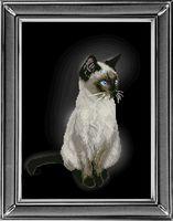 "Вышивка крестом ""Сиамская кошка"" (220х300 мм)"