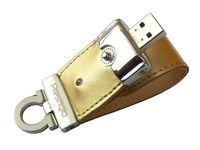 USB Flash Drive 8Gb Prestigio Leather Flash (Gold)
