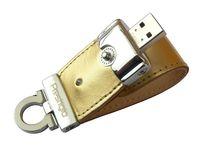 USB Flash Drive 8Gb Prestigio Leather Flash (Gold)