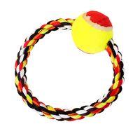 """Игрушка для собаки """"Кольцо с теннисным мячом"""" (18 см)"""