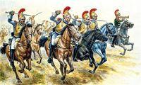 """Набор миниатюр """"Французская тяжелая кавалерия"""" (масштаб: 1/72)"""