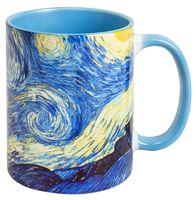"""Кружка """"Ван Гог. Звездная ночь"""" (387, голубая)"""
