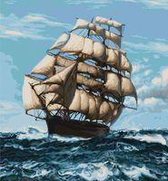"""Вышивка крестом """"Корабль"""" (490х530 мм)"""