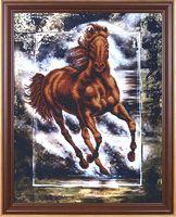 """Вышивка бисером """"Победный конь"""""""