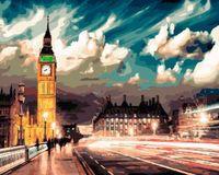 "Картина по номерам ""Огни ночного Лондона"" (400х500 мм)"