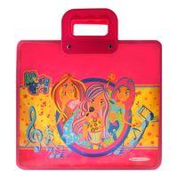 """Портфель на молнии с ручками """"Music Girls"""" (А4; цвет: ассорти; арт. DV-2706-02)"""