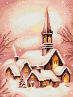 "Вышивка крестом ""Заснеженная церковь"" (170х210 мм)"