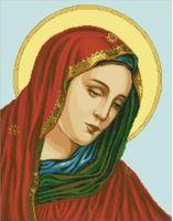 """Канва с нанесенным рисунком """"Богородица"""""""