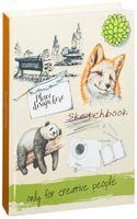 """Скетчбук """"Панда и лиса"""" (А5)"""