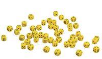 Кубик D6 (жёлтый; арт. zar-yellow)