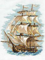 """Вышивка крестом """"Корабль"""" (300х400 мм)"""