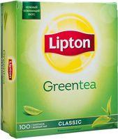 """Чай зеленый """"Lipton. Green Tea Classic"""" (100 пакетиков)"""