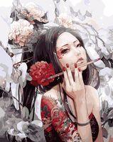 """Картина по номерам """"Девушка с татуировкой дракона"""" (400х500 мм)"""