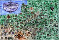 Ілюстраваная мапа. Рэч Паспалітая ў сярэдзіне XVIII ст.