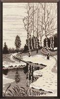 """Вышивка крестом """"Весна. Триптих"""" (180х320 мм; арт. 505В)"""