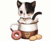 """Картина по номерам """"Котёнок"""" (400х500 мм)"""