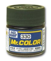 Краска Mr. Color (dark green, C330)