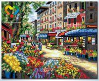 "Картина по номерам ""Цветочная улица"" (400x500 мм; арт. HB4050299)"