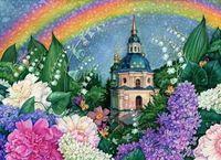 "Алмазная вышивка-мозаика ""В цветах радуги"" (440х600 мм)"