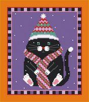 """Вышивка крестом """"Черный котик"""""""