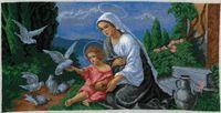 "Вышивка крестом ""Мадонна с младенцем"" (460x230 мм)"