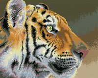 "Алмазная вышивка-мозаика ""Взгляд тигра"" (400х500 мм)"