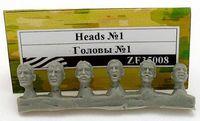 """Аксессуары """"Набор голов для миниатюр №1"""" (масштаб: 1/35)"""