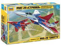 """Сборная модель """"Авиационная группа высшего пилотажа МиГ-29 """"Стрижи"""" (масштаб: 1/72)"""