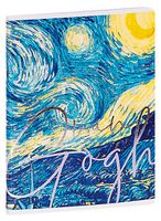 """Тетрадь полуобщая в клетку """"Van Gogh"""" (48 листов)"""