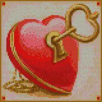 """Алмазная вышивка-мозаика """"Ключ от сердца"""""""