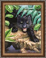 """Алмазная вышивка-мозаика """"Черная пантера"""" (300х400 мм)"""