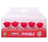 """Набор свечей для торта """"Розы"""" (5 шт.; арт. С-0452)"""