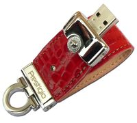 USB Flash Drive 8Gb Prestigio Leather Flash (red)