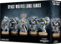 "Набор миниатюр ""Warhammer 40.000. Space Wolves Long Fangs"" (53-15)"