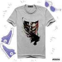 """Футболка серая унисекс """"Бетмен и Джокер"""" XXXL (арт. 046)"""