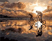 """Картина по номерам """"Велопробег на закате"""" (400х500 мм)"""