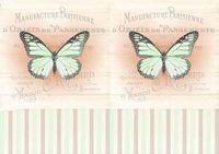 "Бумага для декупажа рисовая ""Бабочки"" (21х30 см; арт. AM400389)"