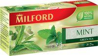 """Чай зеленый """"Milford. С мятой"""" (20 пакетиков)"""