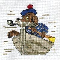 """Вышивка крестом """"Пес морячок"""""""