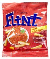 """Сухарики пшенично-ржаные """"Flint"""" (35 г; красная икра)"""
