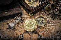 """Вышивка бисером """"Карта времени"""" (256х400 мм)"""