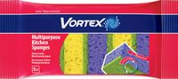 "Губка для мытья посуды ""Vortex"" (5 шт; 100х70х38 мм)"