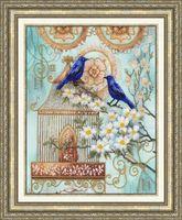 """Вышивка бисером """"Синие птицы счастья"""" (265х340 мм)"""