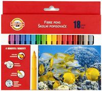 """Фломастеры """"Fibre Pens"""" (18 цветов)"""