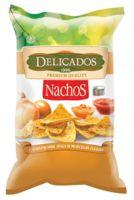"""Чипсы кукурузные """"Delicados. С кусочками жаренного лука и солью"""" (150 г)"""